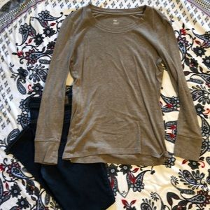 Gap, super soft, tan, long sleeve shirt